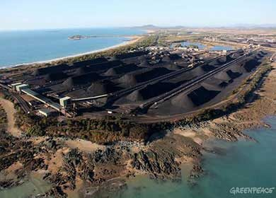 A coal terminal.