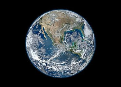 The Earth from space. Courtesy of NASA.