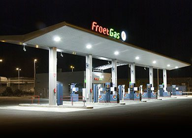 A gas station.