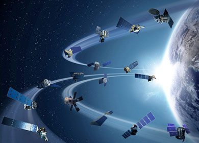 NASA's satellite fleet in orbit. Courtesy of NASA.