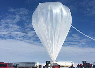 The launch of a NASA weather balloon. Courtesy of NASA.