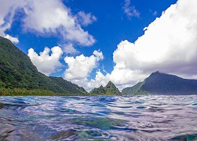 Oceanic islands. Courtesy of the National Park of American Samoa.