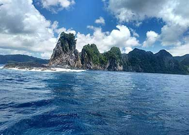 Clouds over islands. Courtesy of the National Park of American Samoa.