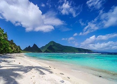 Clouds of Pacific islands. Courtesy of the National Park of American Samoa.