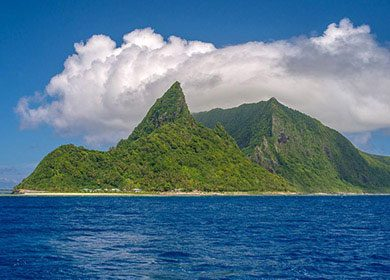 Island clouds. Courtesy of the National Park of American Samoa.