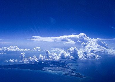 Marine cloud brightening can increase the oceans albedo. Courtesy of NOAA.