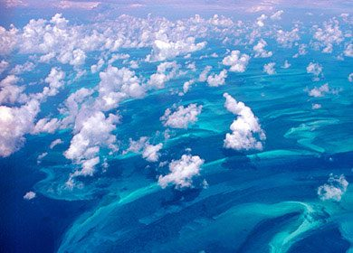 Marine clouds of a shallow sea. Courtesy of NOAA's Hurricane Research Division.