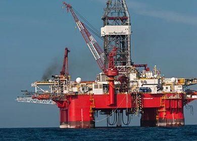 An oil rig.