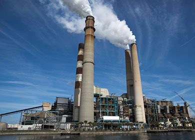 Carbon dioxide removal technologies can be used at power plants.