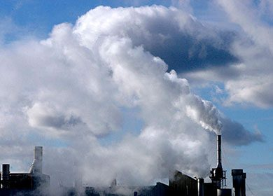 A coal plant in Toronto.