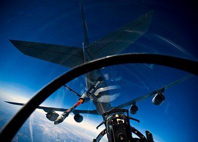 A 911th Air Refueling Squadron KC-135R Stratotanker. Courtesy of U.S. Air Force Staff Sgt. Michael B. Keller.
