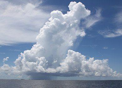 A storm cloud.