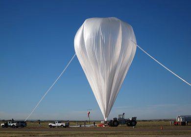 A NASA weather balloon. Courtesy of NASA and Gianine M. Figliozzi.