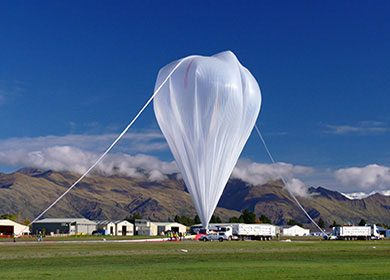 The launching of a weather balloon. Courtesy of NASA Goddard Space Flight Center.